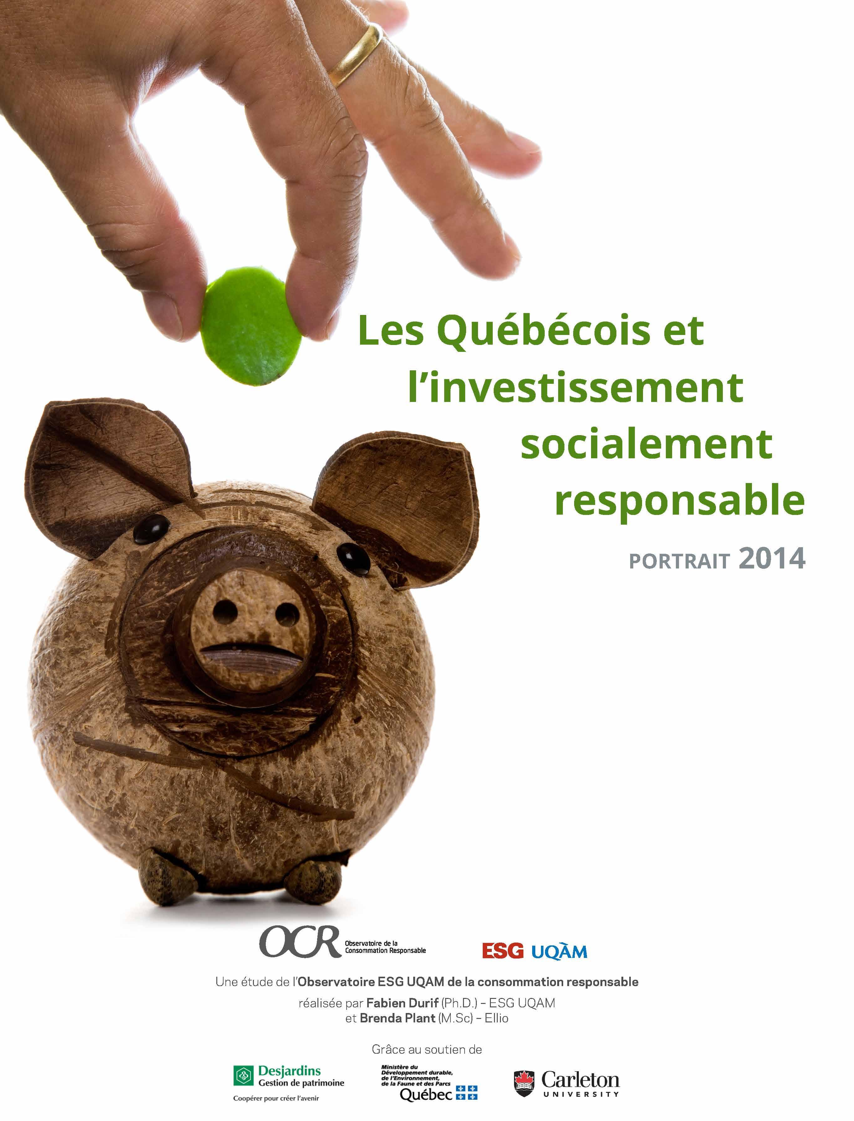 Les Québécois et l'ISR : portrait 2014